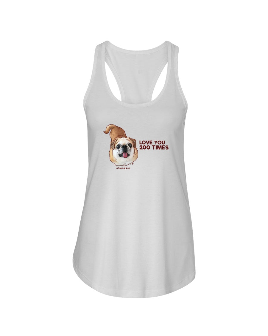 Bamei Love You 200 Times Ladies Racerback Tank Top
