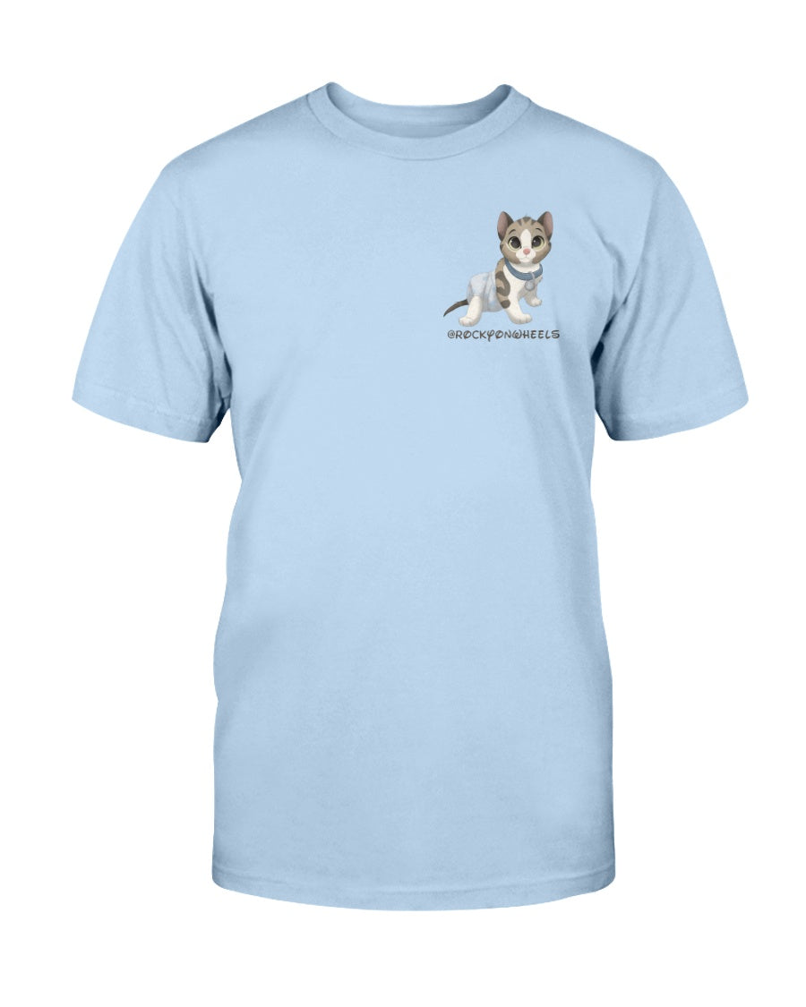 Rocky on Wheels - Adopt A Special Needs Cat Logo Unisex T-Shirt