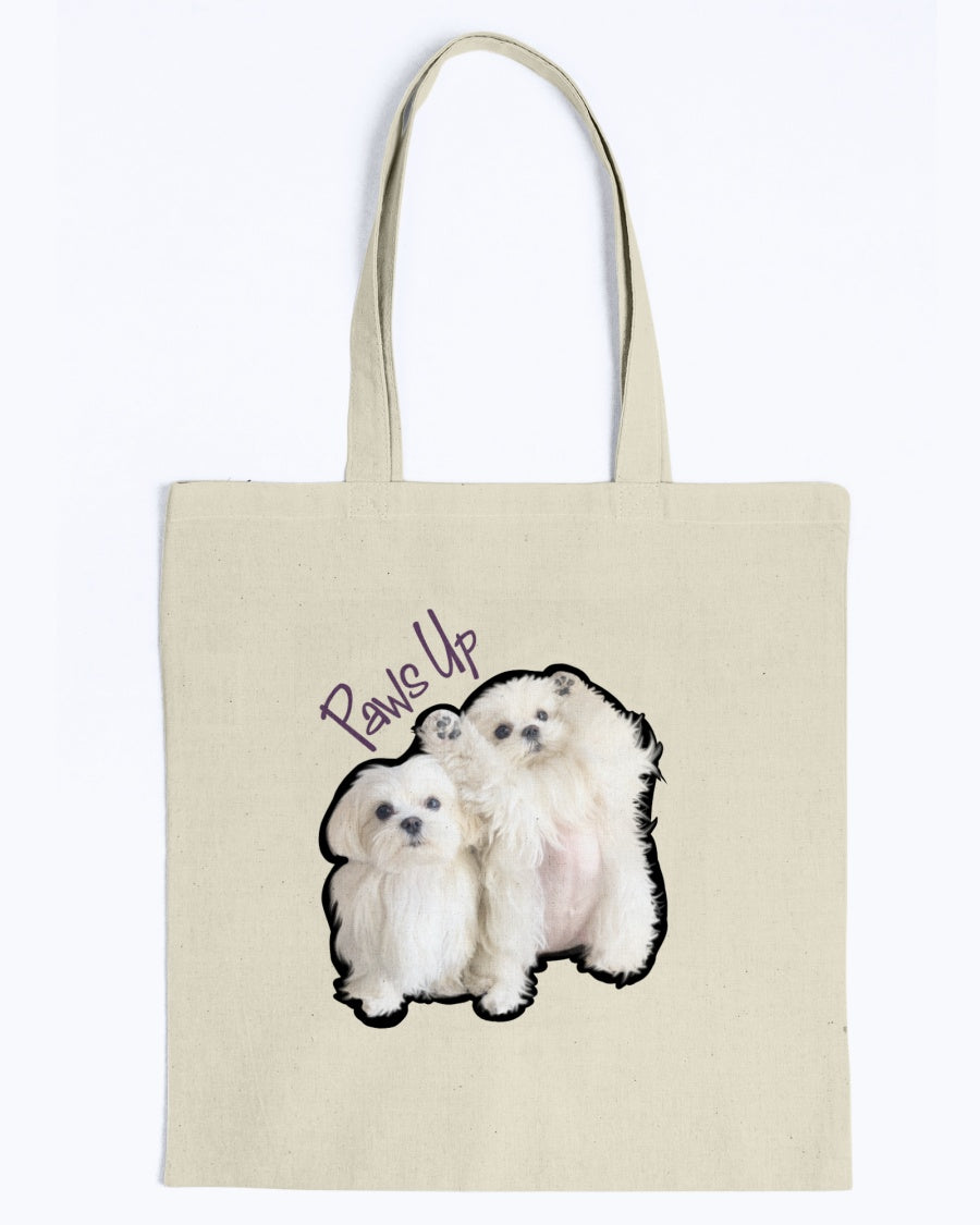 Coco And Cici Paws Up Official Canvas Tote Bag
