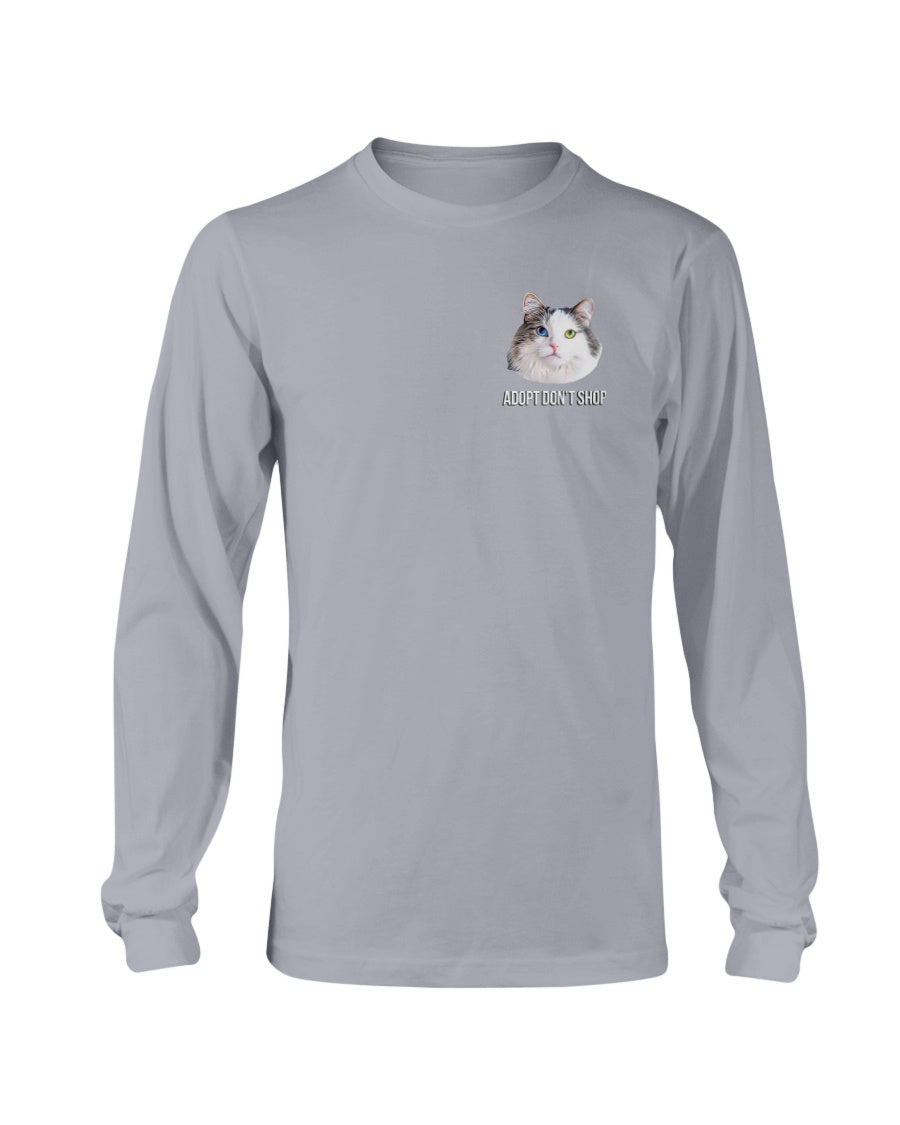Bowie The Cat - Adopt Don't Shop Long Sleeve T-Shirt