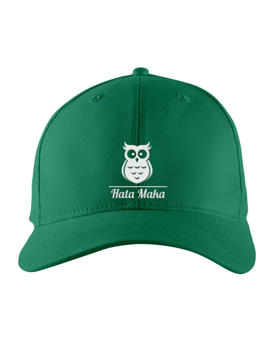 New Hata Maka White Owl Official Green Snapback Trucker Cap