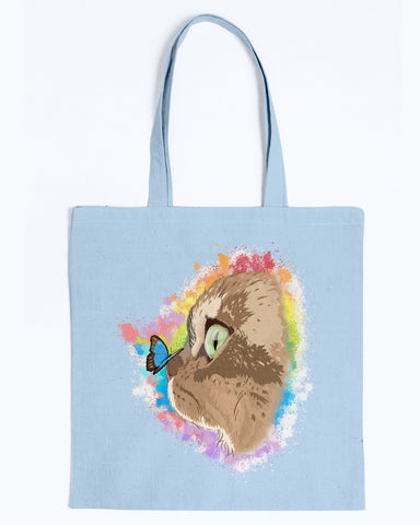 Farfor and Butterfly My Lulu Cat Official Canvas Tote Bag
