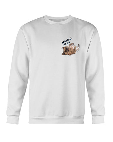 Bamei Tongue Pug Crewneck Sweatshirt