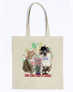 Love From Peany & Cricket Canvas Tote Bag