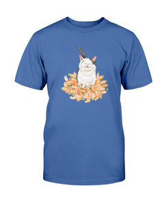 Polite Cat Ollie Watercolor Men's T-shirt-Vardise.com