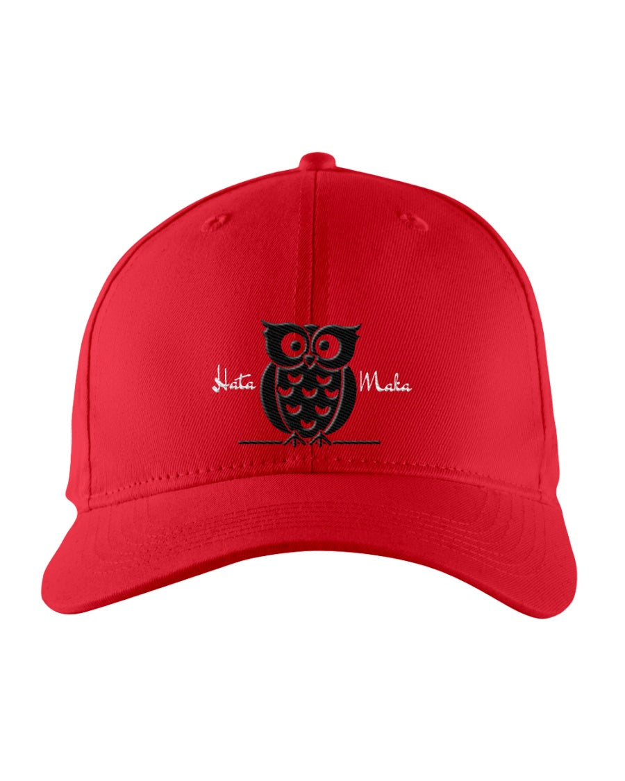 Hata Maka Black Owl Official Red Snapback Trucker Cap