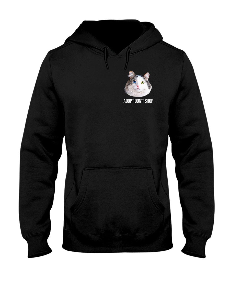 Bowie The Cat - Adopt Don't Shop Hoodie