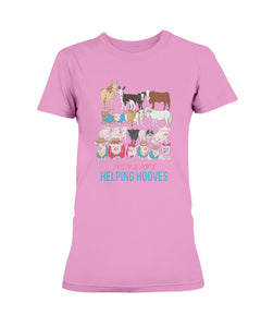 Prissy & Pop's Helping Hooves Official Women's T-Shirt-Vardise.com