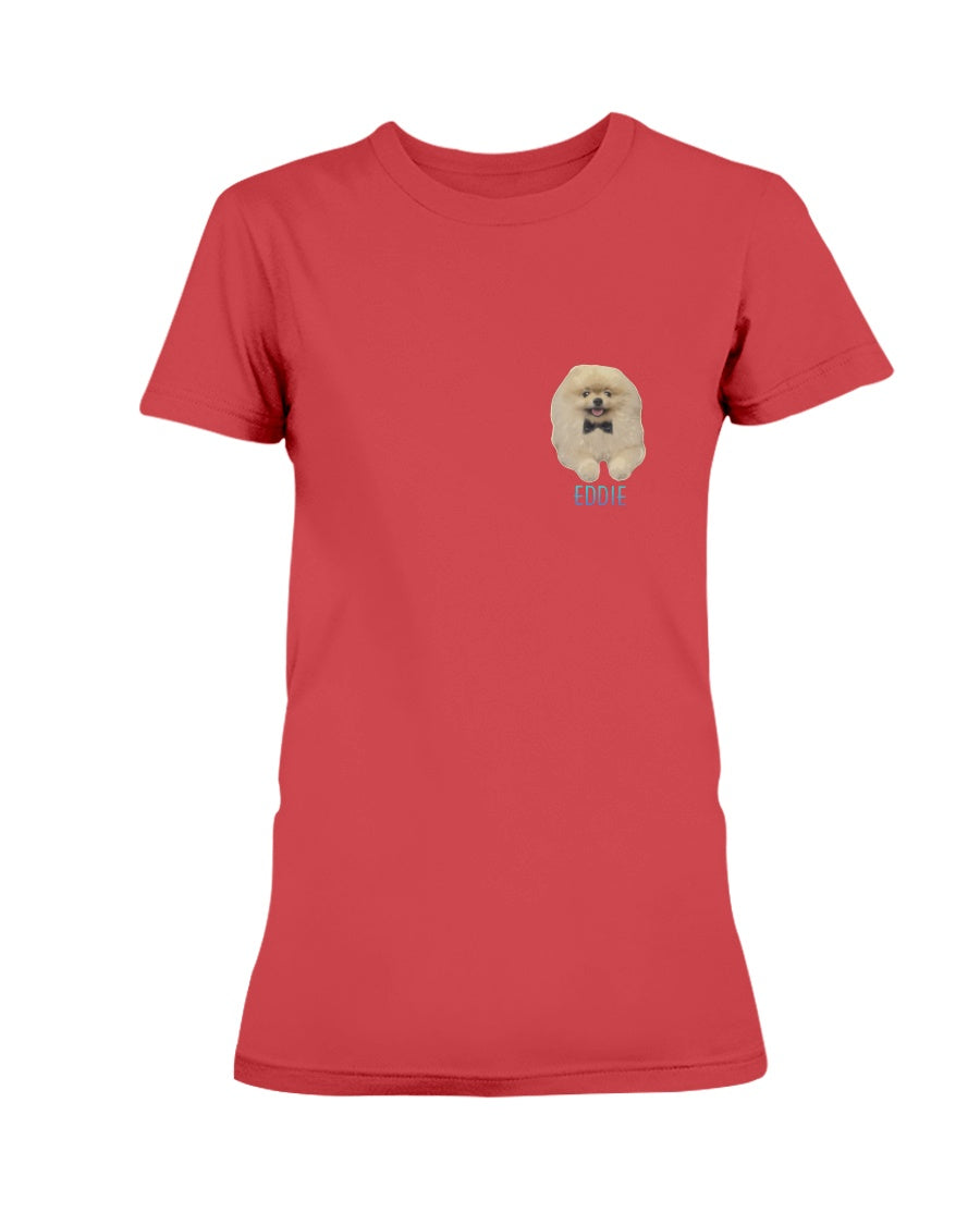 Eddie Small Logo Ladies T-Shirt