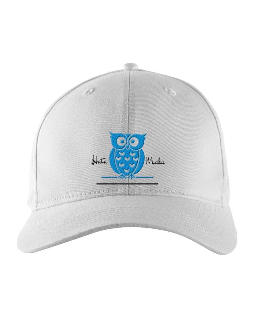 Hata Maka Blue Owl Official White Snapback Trucker Cap