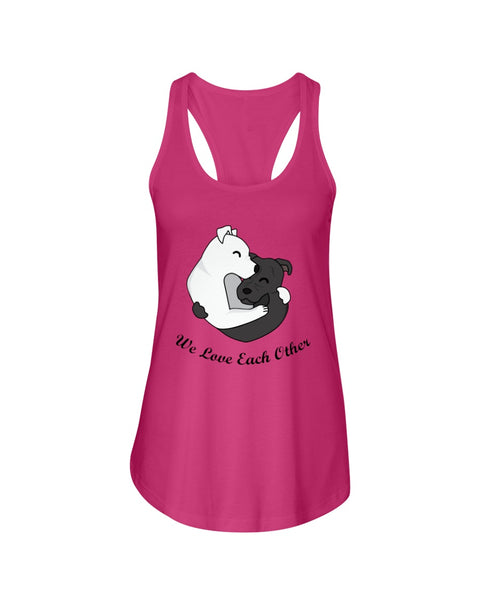 VO Beautiful Dogs Love Each Other Couple Tank Top