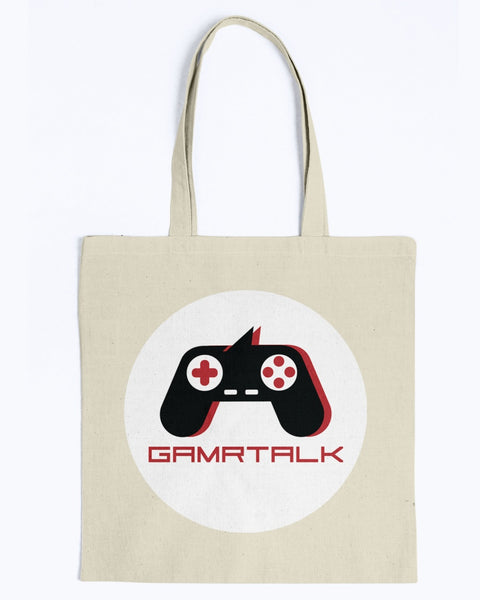 GAMRTALK White Logo Official Canvas Tote Bag
