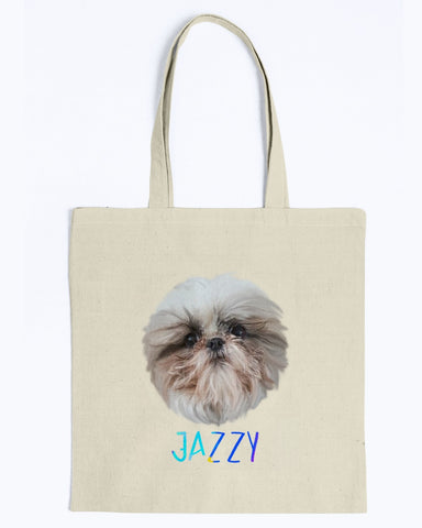 Jazzy Snoot Canvas Tote Bag