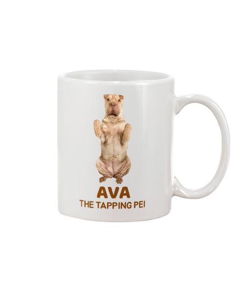 Ava The Tapping Pei 11oz White Mug