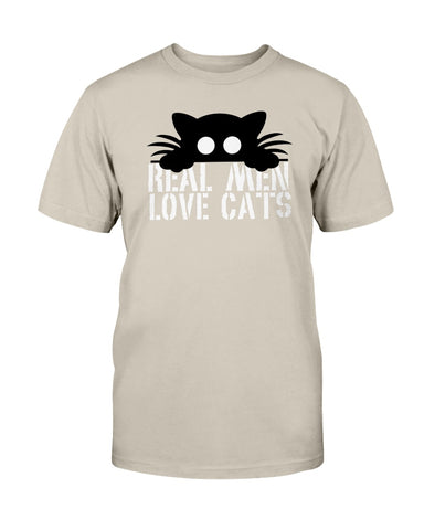 VO Funny Cat T-shirt Real Men Love Cats Official Unisex T-Shirt