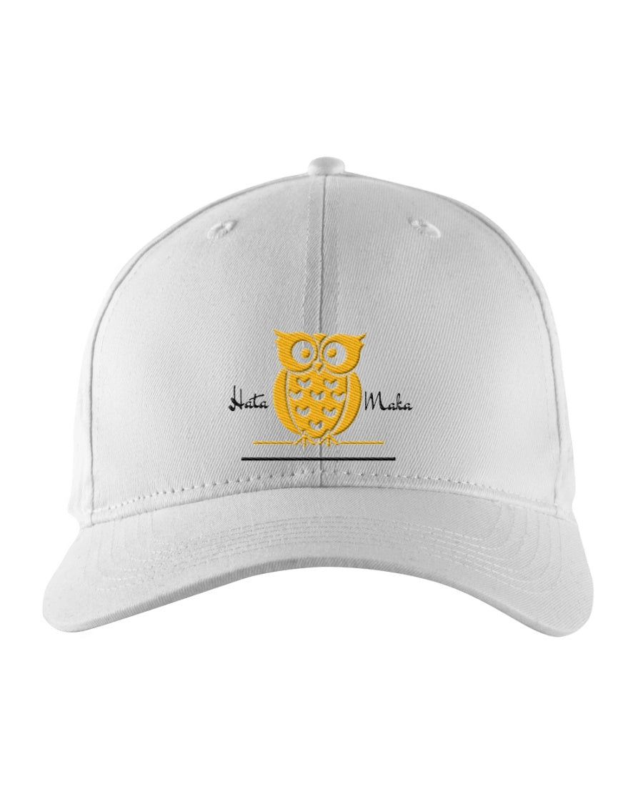 Hata Maka Yellow Owl Official White Snapback Trucker Cap