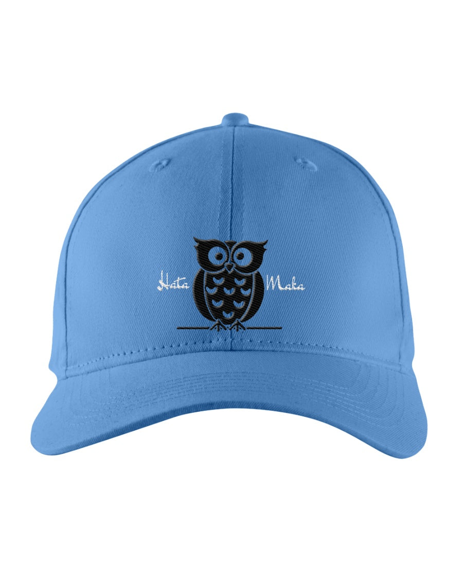 Hata Maka Black Owl Official Blue Snapback Trucker Cap