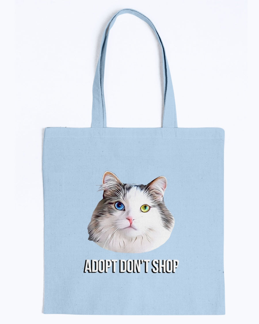Bowie The Cat - Adopt Dont Shop Canvas Tote Bag-Kucicat