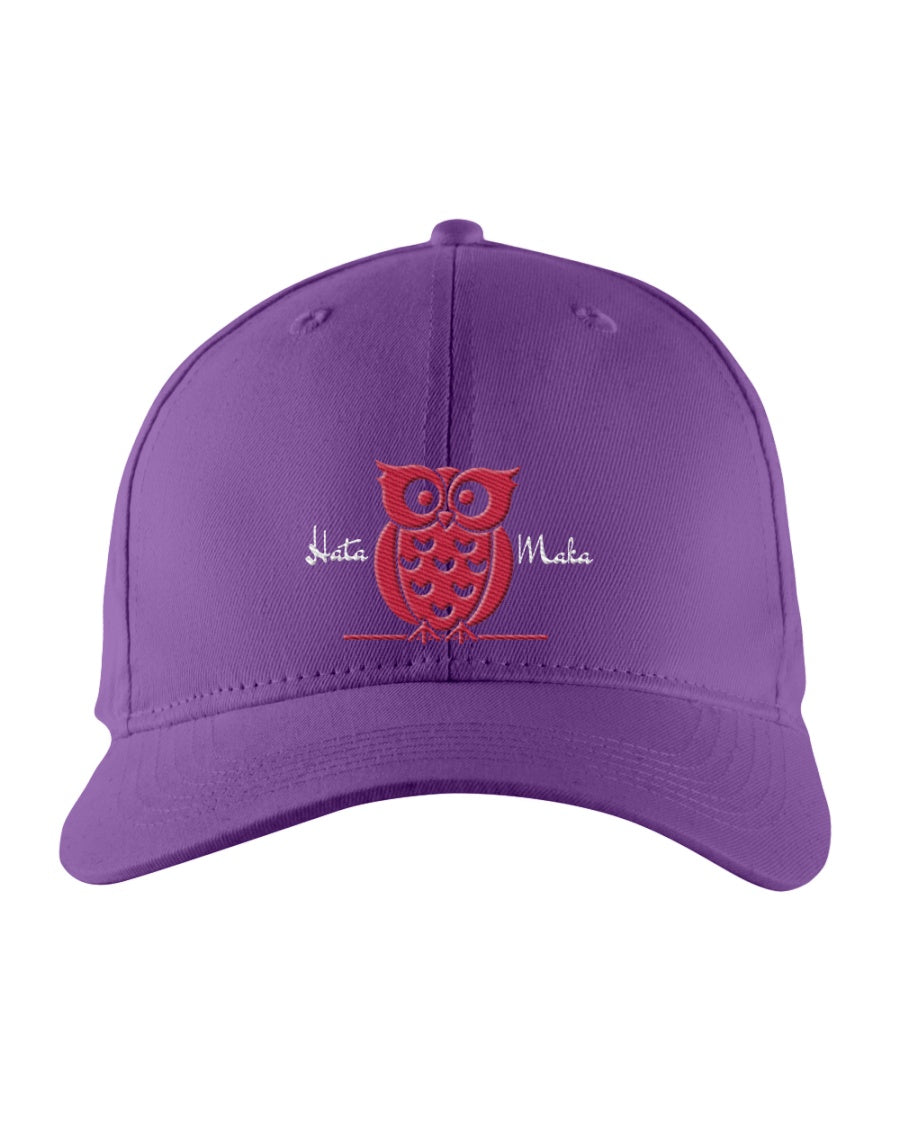 Hata Maka Pink Owl Official Purple Snapback Trucker Cap