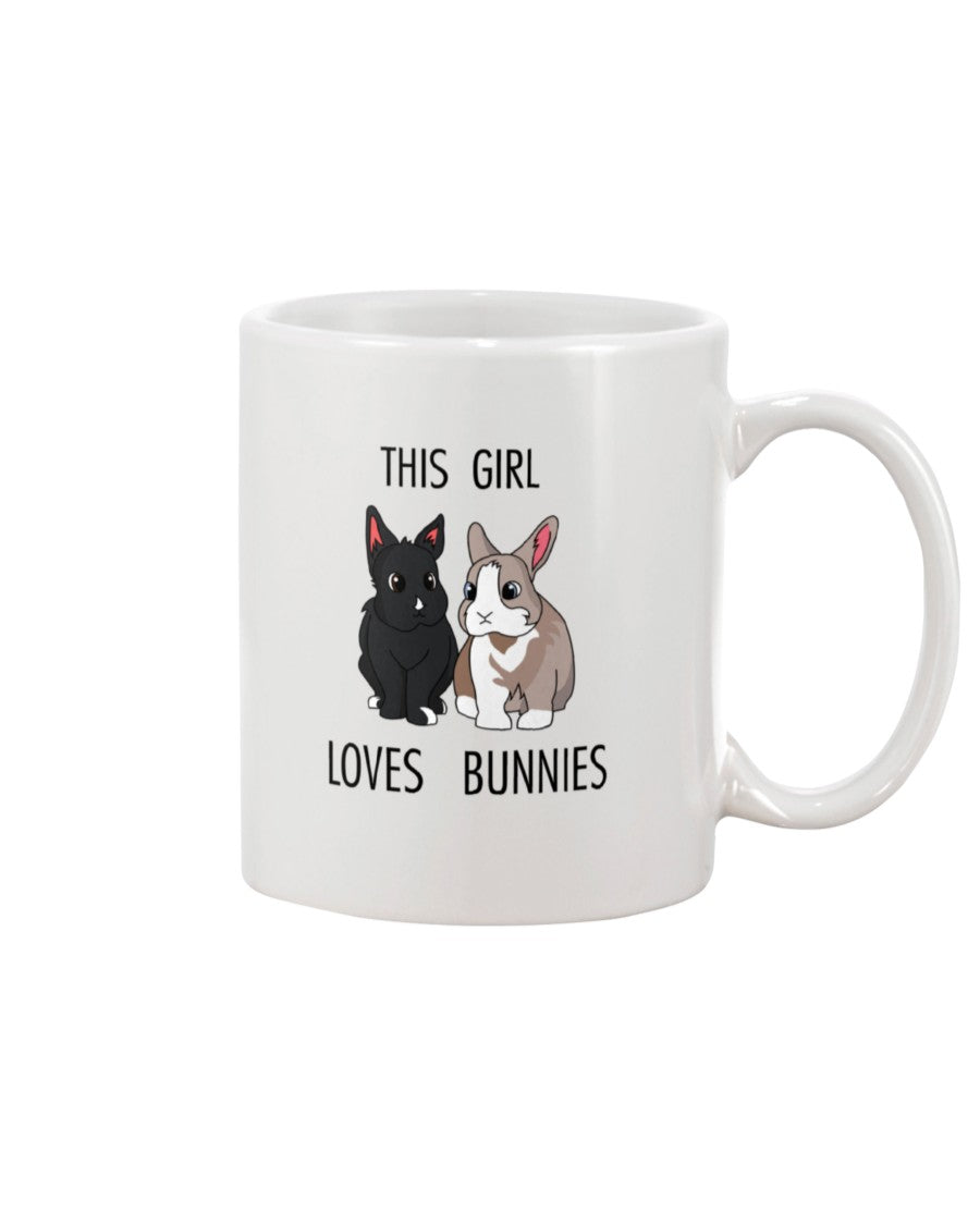 Tiffoco - This Girl Loves Bunnies 11 oz Mug
