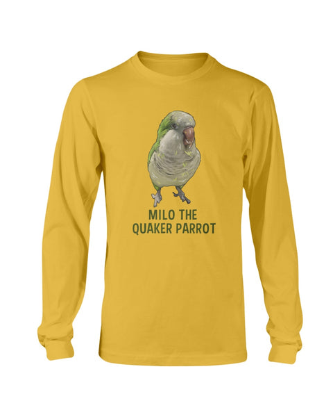 Milo The Quaker Parrot Long Sleeve T-Shirt