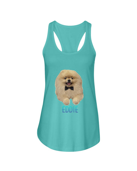 Eddie Ladies Racerback Tank Top