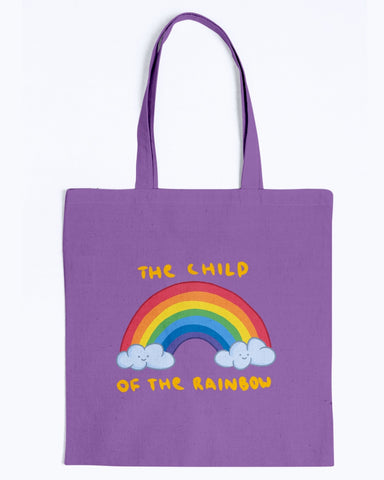 Hata Rock The Child of The Rainbow Canvas Tote Bag-Kucicat