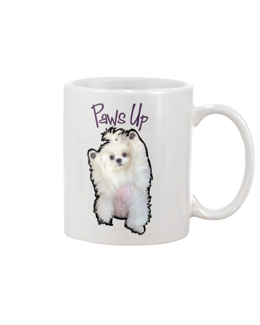 Coco The Maltese Dog Paws Up Official 11oz Mug