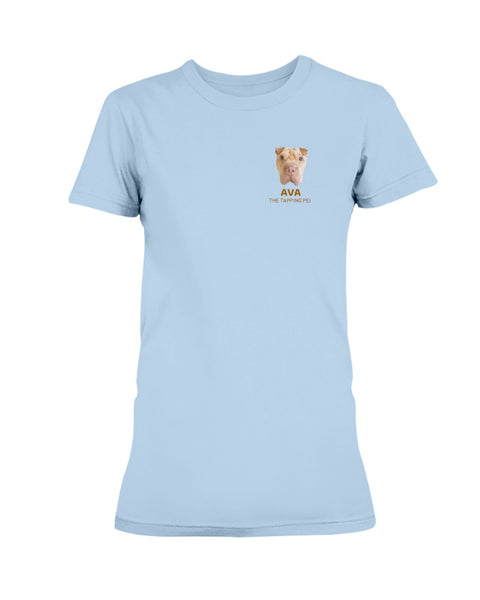 Ava The Tapping Pei Ladies T-shirt