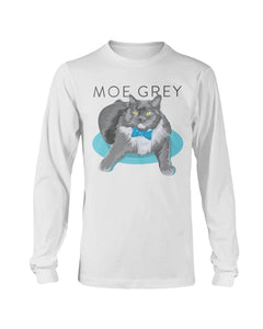 Moe Grey Long Sleeve T-Shirt