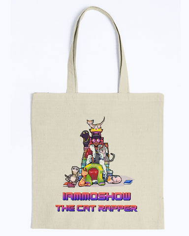I Am Moshow Family Canvas Tote Bag-Kucicat