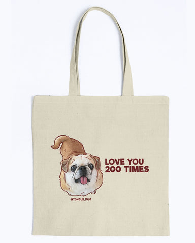 Bamei Love You 200 Times Tote Bag-Kucicat