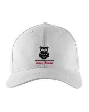New Hata Maka Black Owl Official White Snapback Trucker Cap