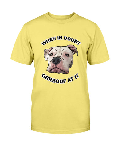 Mayor Roo - When In Doubt Grrboof At It Men's T-Shirt-Vardise.com