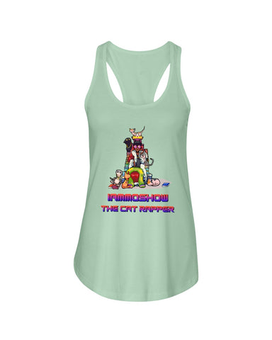 I Am Moshow Family Ladies Racerback Tank Top