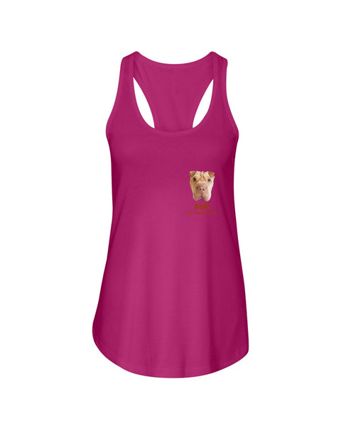 Ava The Tapping Pei Ladies Racerback Tank Top