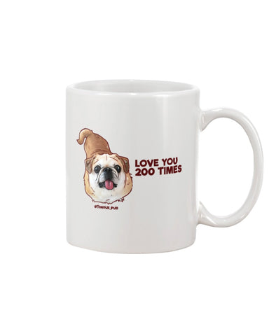 Bamei Love You 200 Times 11oz Mug