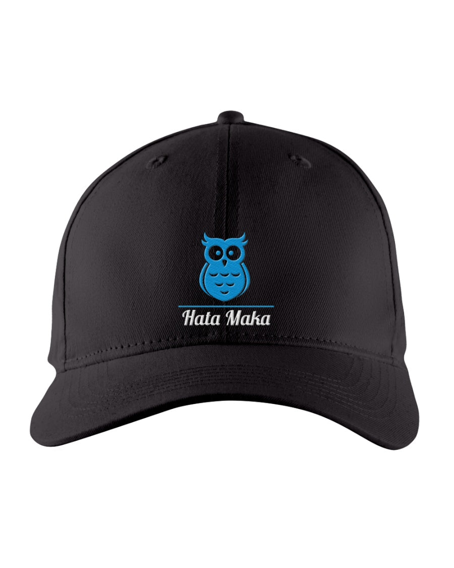 New Hata Maka Blue Owl Official Black Snapback Trucker Cap