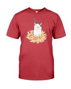Polite Cat Ollie Watercolor Women's T-shirt-Vardise.com