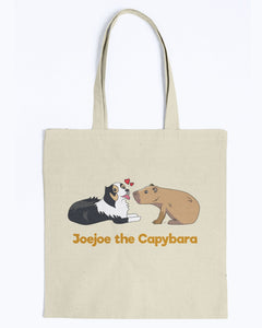 JoeJoe The Capybara and The Lovely Dog Canvas Tote Bag-Kucicat