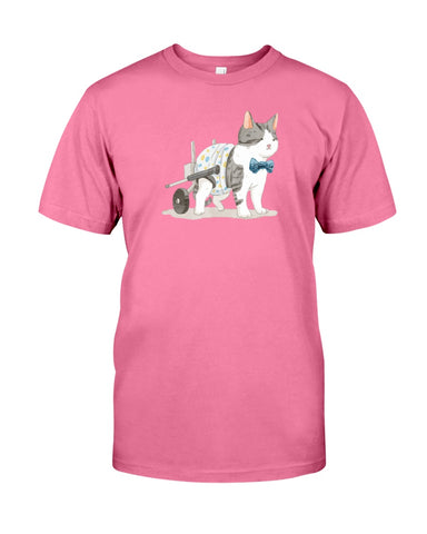 Rocky on Wheels Watercolor Ladies T-Shirt