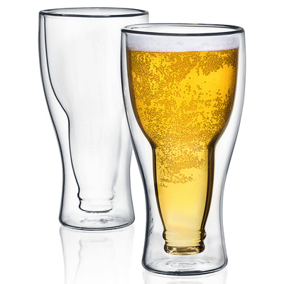 Upside Down Beer Glasses