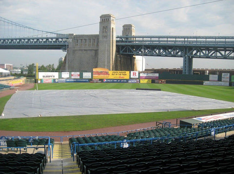 protective tarp covering for entire baseball field