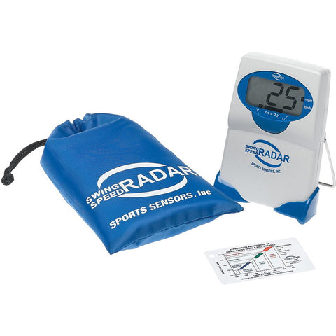 Sports Sensors Swing Speed Radar with chart and pouch