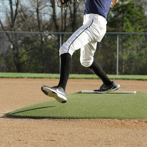 Game pitching mound for youth players - Green