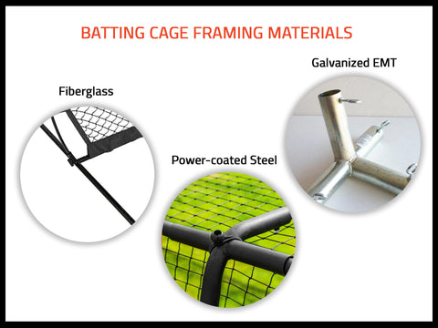 how to pick batting cage frame materials