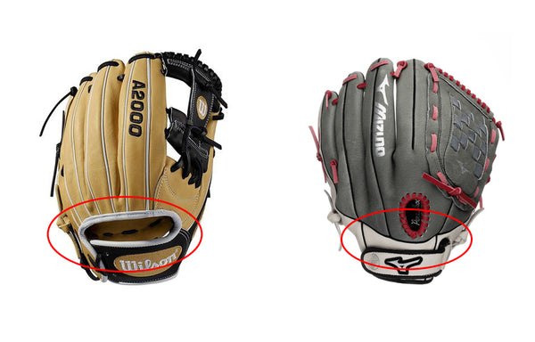 softball glove back - open or closed