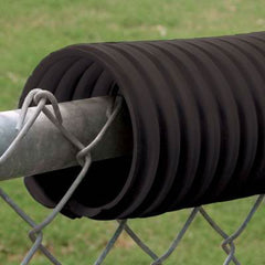 Fence Crown Protective Fence Guard Black - 100' - Pitch Pro Direct