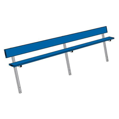 Jaypro 15' Player Bench w/Seat Back (Permanent) - Pitch Pro Direct