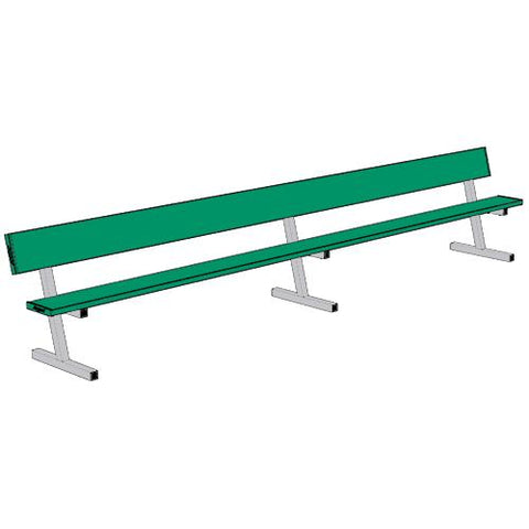Jaypro 15' Player Bench w/Seat Back (Portable) - Pitch Pro Direct